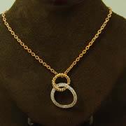 14k YG/ WG Diamond Circle