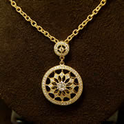 14k YG Diamond Drop Pendant