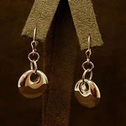 14k YG Contemporary Earrings