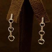 14k WG Diamond Fashion Earrings