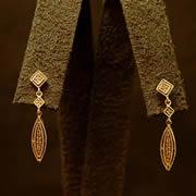 14k YG Diamond Boutique Earrings