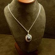 14k WG Black Cultured Pearl Pendant